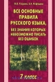 Все основные правила русского языка, без знания которых невозможно писать без ошибок 7 кл